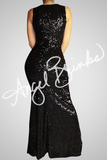 Pure Sequins Dress (Black)