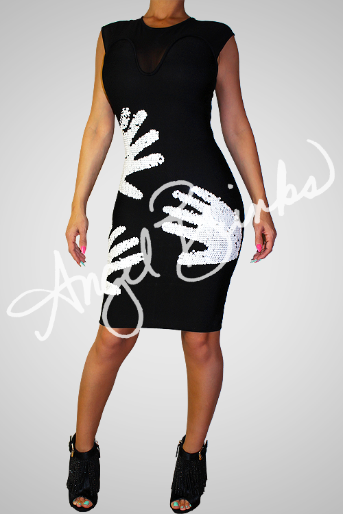 Hands On Bandage Dress (Black)