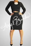 Classic Bandage Skirt Set (Black)