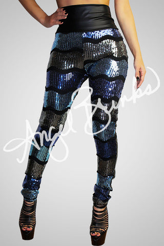 Squiggled Sequins (Blues)