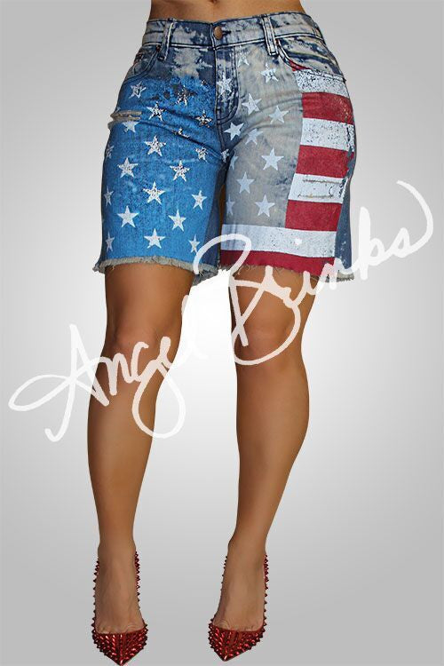 Alternative image for Salute Me Jean Shorts