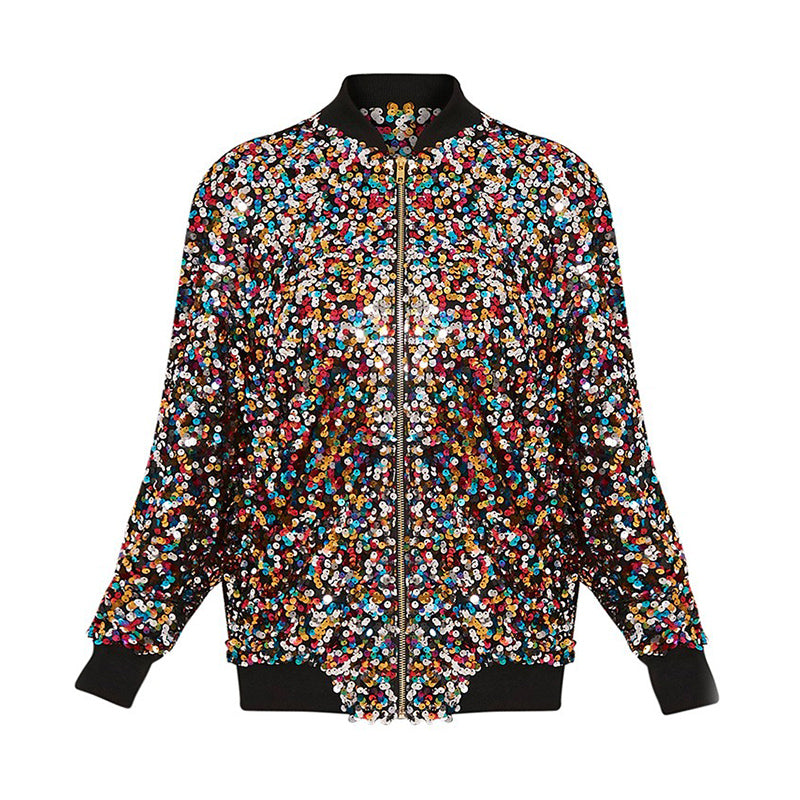 Rainbow Colored Sequin Jacket (Only)