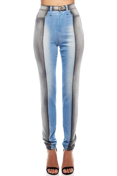Alternative image for Two Tone Gray Jeans