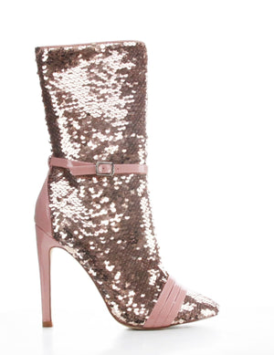 Sequin Booties (Blush)