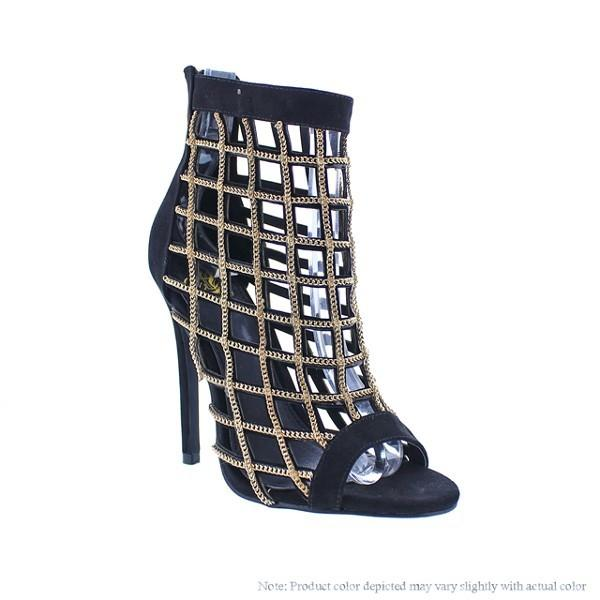 Alternative image for Chain Caged Heels (Black)