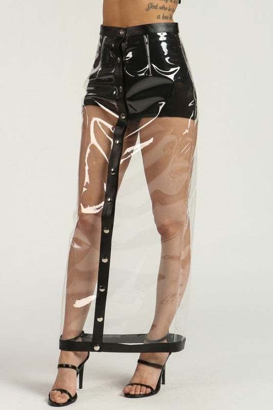 Alternative image for Clear Vinyl Skirt