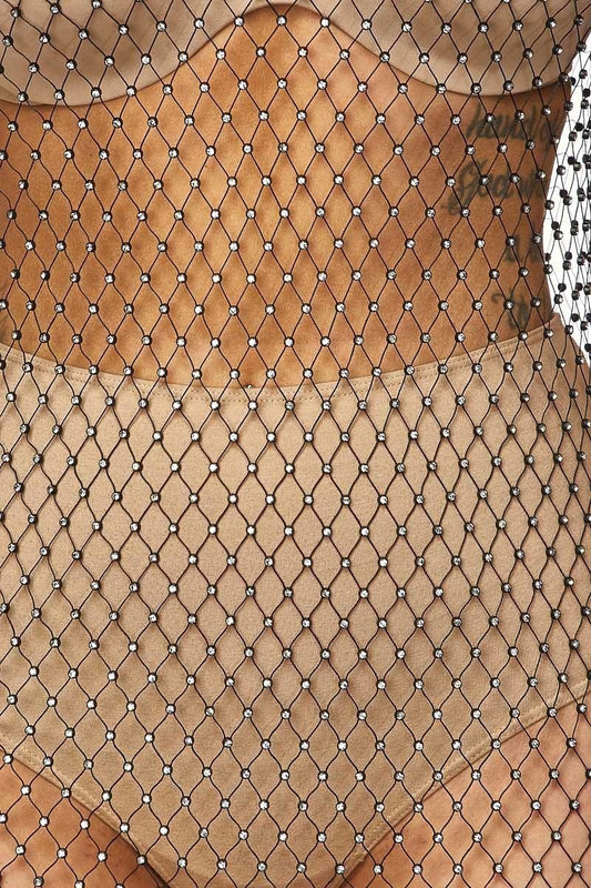 Fishnet Rhinestone Dress