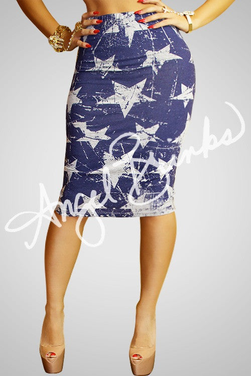 Stars Everywhere Skirt (Gray)