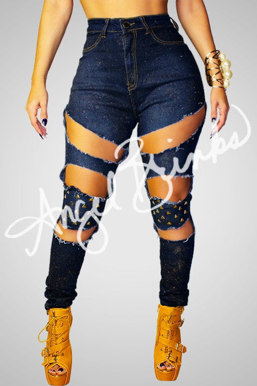 Sparkle & Studs Denim Jeans