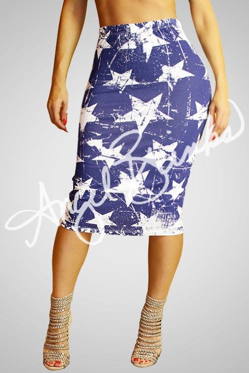 Stars Everywhere Skirt (White)