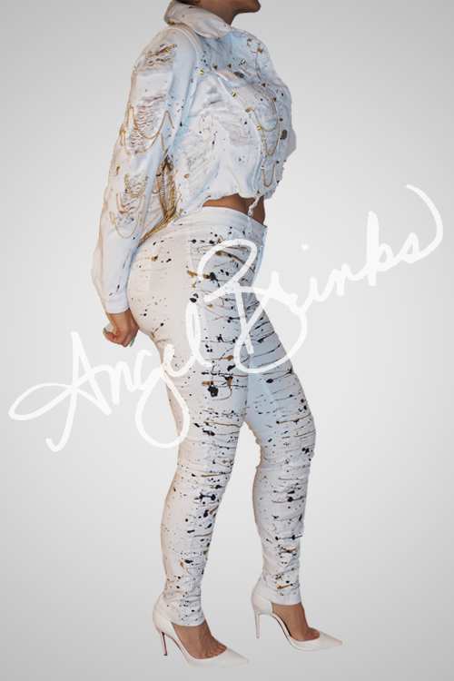 Look Back At It Jeans Only - White