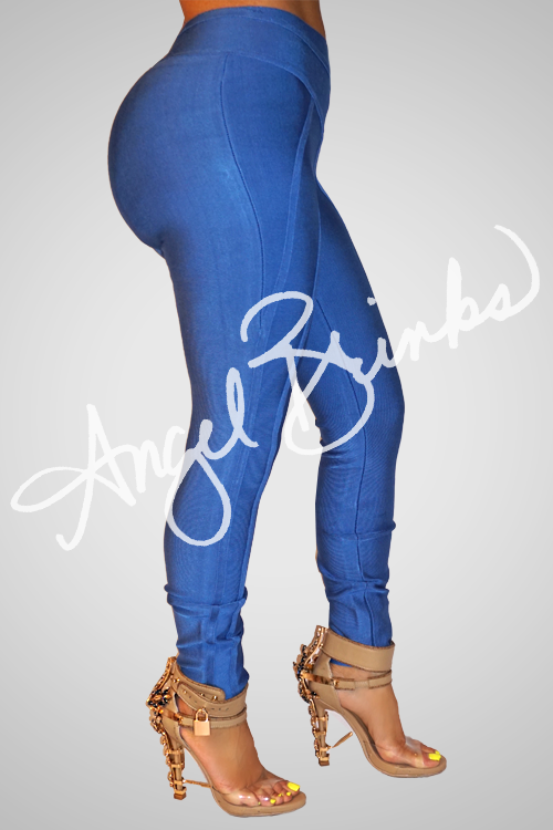 Blue Bandage Leggings