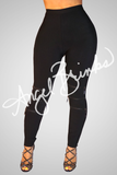 Black Bandage Leggings - Thumbnail