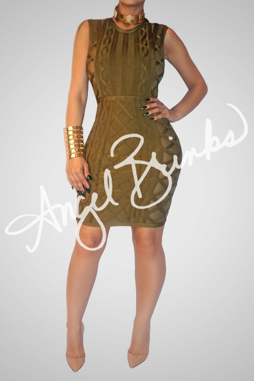 Nobility Bandage Dress (Olive)