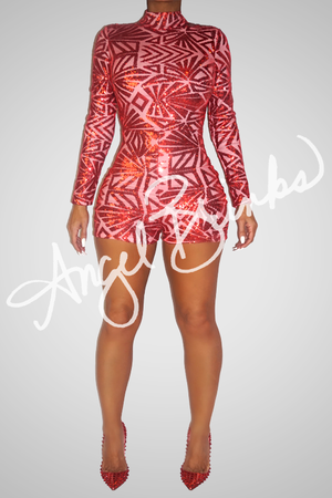 Chyna Red Romper