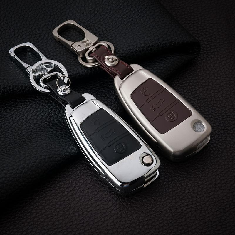Luxury Real Metal & Leather Cover For All Audi Keys