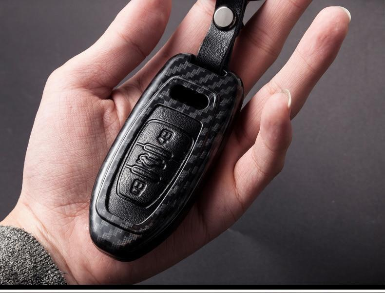 Lux Carbon Fiber & Leather Key Cover For All Audi Keys