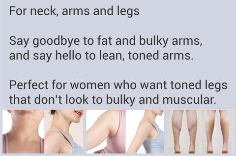 Lean, toned arms.  Don't look bulky and muscular