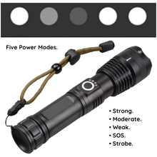 Load image into Gallery viewer, HIGH POWERED TACTICAL FLASHLIGHT. - FlashlightX