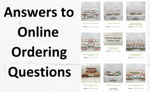 Answers To Online Ordering Questions