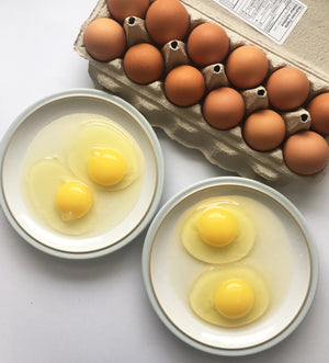 Colour changes in the yolk of eggs is normal and natural.