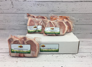 Pork Bone-in Loin Chops Box