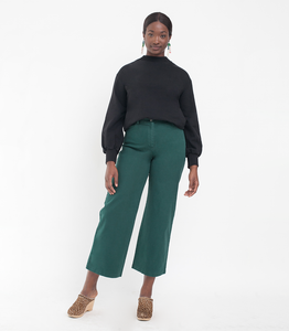 "Loup ""Toni"" High-Rise Pant in Forest Green"