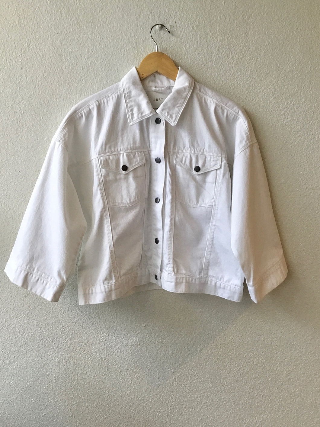 Just Female Nis Denim Jacket in White