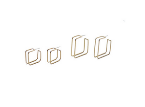 Natalie Joy Square Cage Hoop Earrings