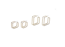 Load image into Gallery viewer, Natalie Joy Square Cage Hoop Earrings