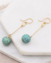 Load image into Gallery viewer, Amy Olson Vintage Turquoise Drop Earrings