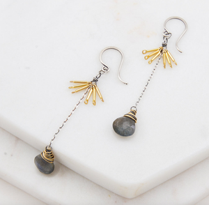 Amy Olson Labradorite Tassel Earrings