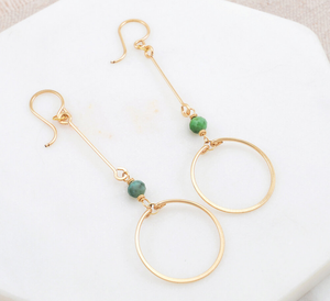Amy Olson Turquoise Circle Drop Earrings