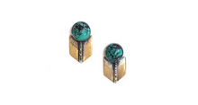 Load image into Gallery viewer, Claire Sommers Buck Archer Studs with Turquoise
