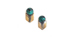 Claire Sommers Buck Archer Studs with Turquoise
