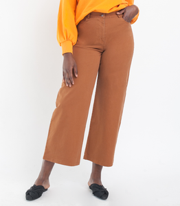 Loup Toni High-Rise Pant Wide Leg And Zip Fly In Tan