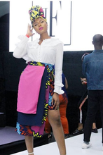 Load image into Gallery viewer, SGTC Colorblock Ankara Skirt