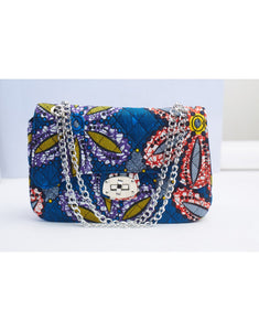 Quilted Temi Bag - Blue