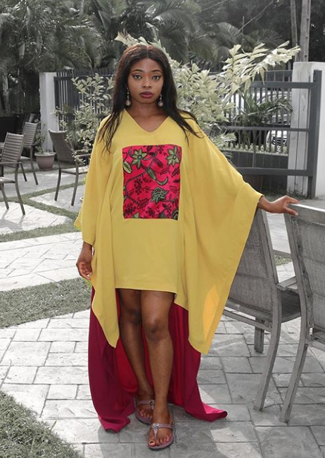 Wanni Fuga High Low Kaftan - Red/Yellow