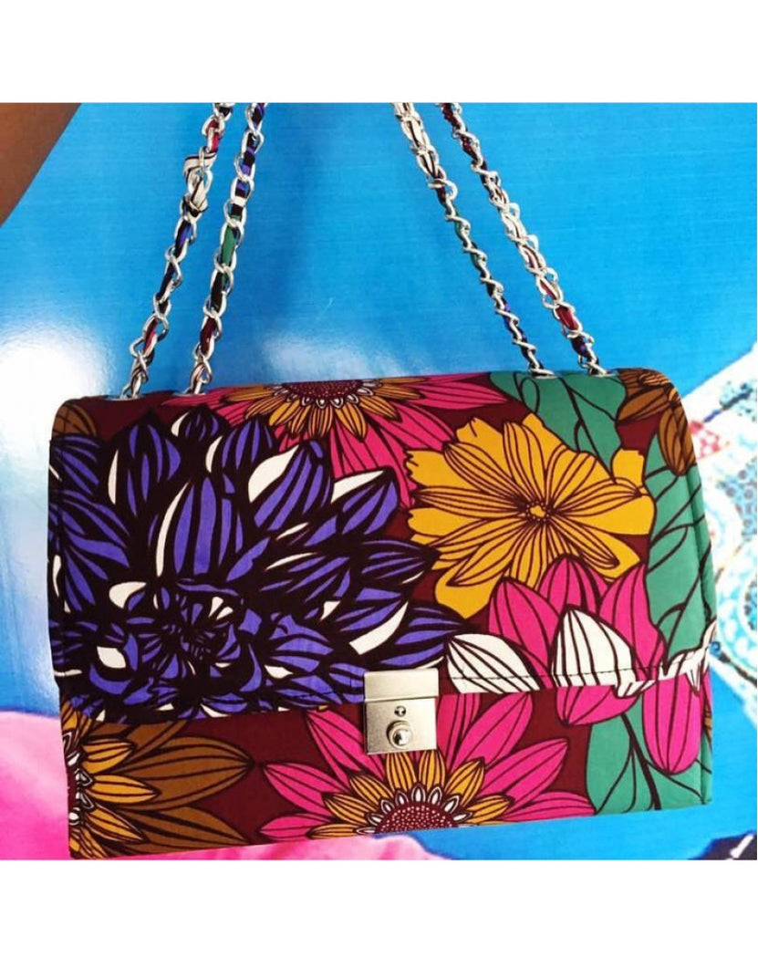 SEWA BAG -COLORFUL PETAL PRINT