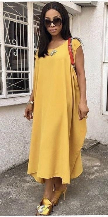 Wanni Fuga Araba Dress Mustard Yellow