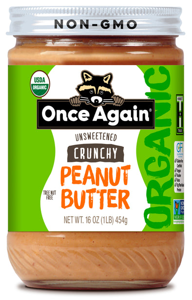 Once Again Organic Peanut Butter Crunchy Lightly Salted 16 oz