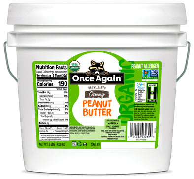 Once Again Organic Peanut Butter Creamy Lightly Salted 9 lb