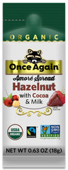 CLEARANCE Once Again Amoré Organic Hazelnut Spread with Milk Chocolate Squeeze Pack 10 ct
