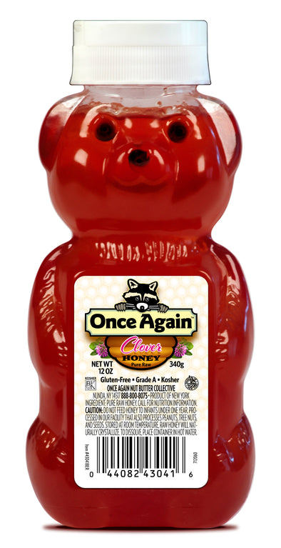 Once Again Natural Clover Honey Bears 12 oz