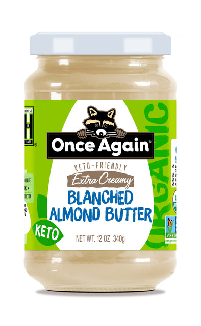 Organic Extra Creamy Blanched Almond Butter - Salt Free, Unsweetened - 12 oz