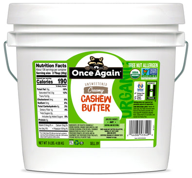 CLEARANCE Once Again Organic Cashew Butter 9 lbs