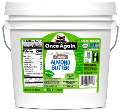 CLEARANCE Once Again Organic Almond Butter Creamy 9 lb