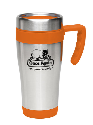 Once Again Travel Tumbler Mug, 15oz - Orange