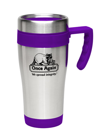 Once Again Travel Tumbler Mug, 15oz - Purple